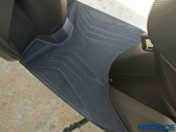 TVS NTORQ 125: Rubberized footboard mat. Wow!