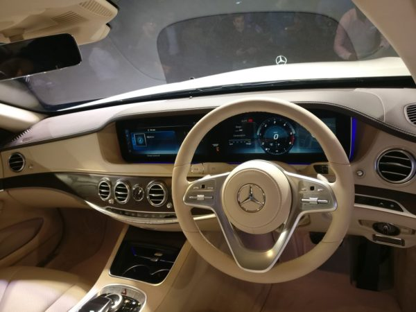 new 2018 Mercedes S Class Facelift India interior dashboard (2)