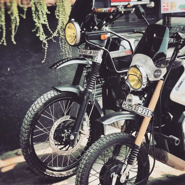 Honda Navi To Royal Enfield Himalayan Customisation (1)