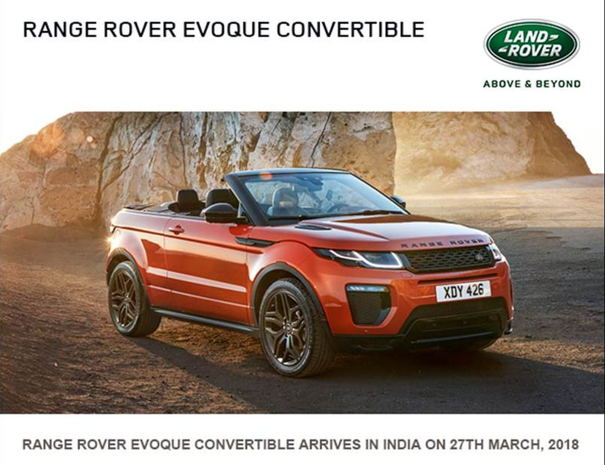 Range Rover Evoque Convertible India Launch Details Motoroids