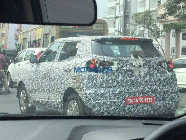 Mahindra S201 Compact SUV – Spied In Tamil Nadu (2)