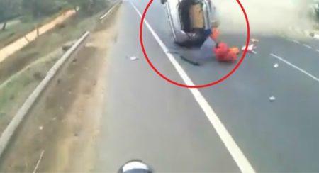 Maruti Suzuki Swift DZire Crashes Into Royal Enfield - Facebook