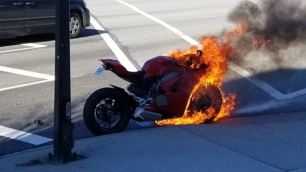 New Ducati Panigale V4 S Burst Into Flames (1)