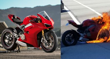 New Ducati Panigale V4 S Burst Into Flames - Feature Image (1)