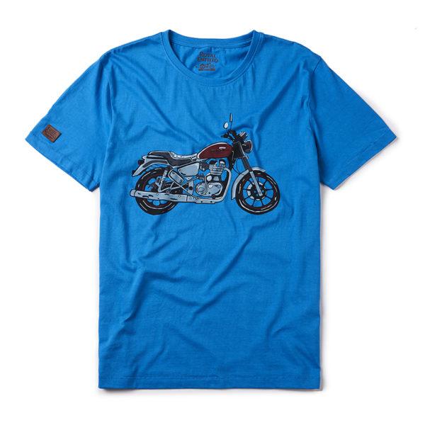 Royal Enfield City Slicker T Shirt Drifter Blue 1