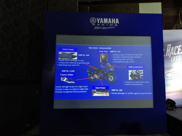 Yamaha R15 V3 – Accessories