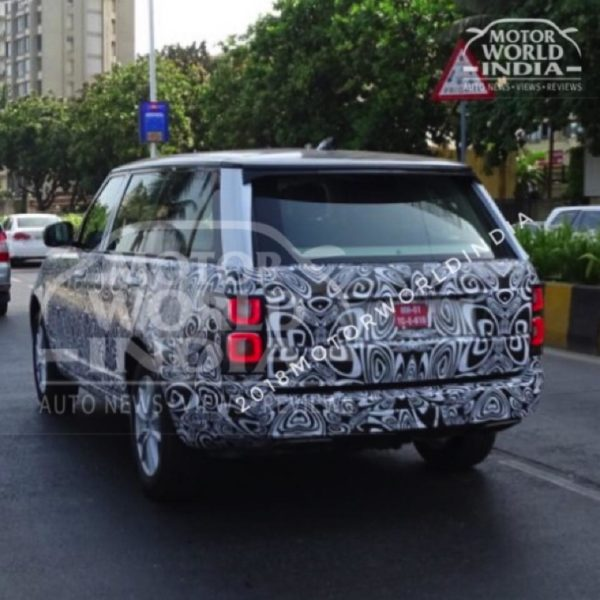 2018 Range Rover facelift spied tesing in India