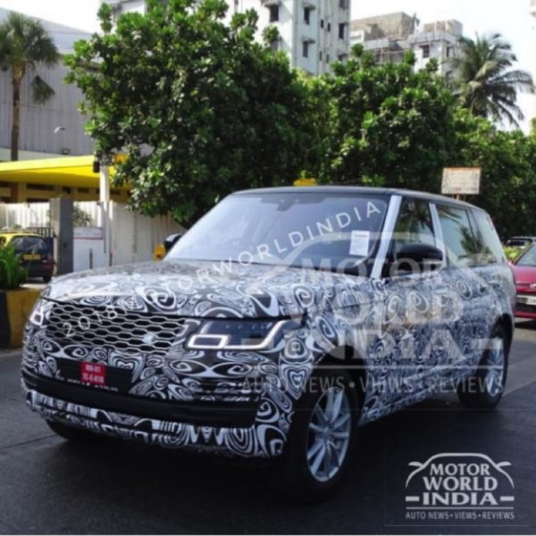2018 Range Rover facelift spotted tesing in India