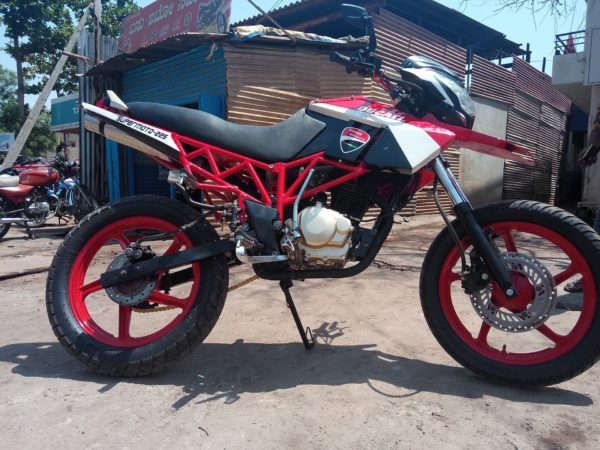 Ducati Hypermotard Inspired Custom Motorcycle (9)