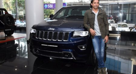 Farhan Akhtar with the new Jeep Grand Cherokee
