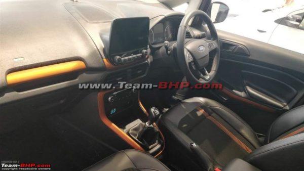 Ford EcoSport Titanium S variant interiors