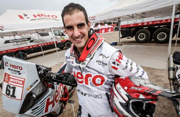Hero MotoSports Team Rally rider Oriol Mena