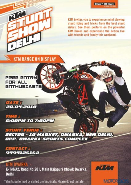 KTM India To Organise Stunt Show in Delhi On April 20 (6)