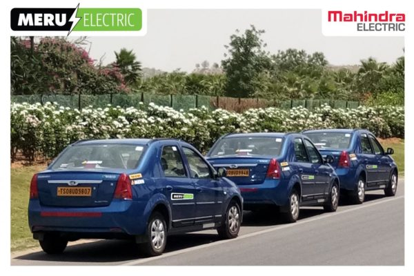 Mahindra and Meru EV Taxi