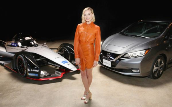 Margot Robbie Attends Exclusive Event As Part Of The Nissan Formula E Launch Tour