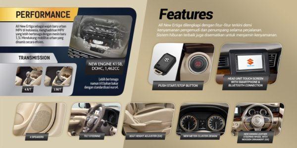 New 2018 Suzuki Ertiga Interior Features