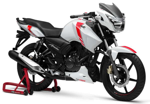 New TVS Apache RTR 160 White Race Edition (2)