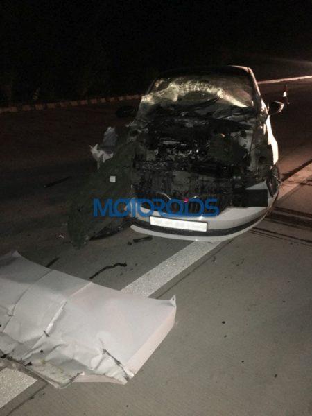 Skoda Rapid Crash – Yamuna Expressway (2)