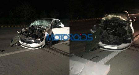 Skoda Rapid Crash - Yamuna Expressway - Feature Image
