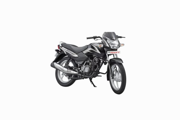 TVS Sport Silver Alloy Edition - Black Silver