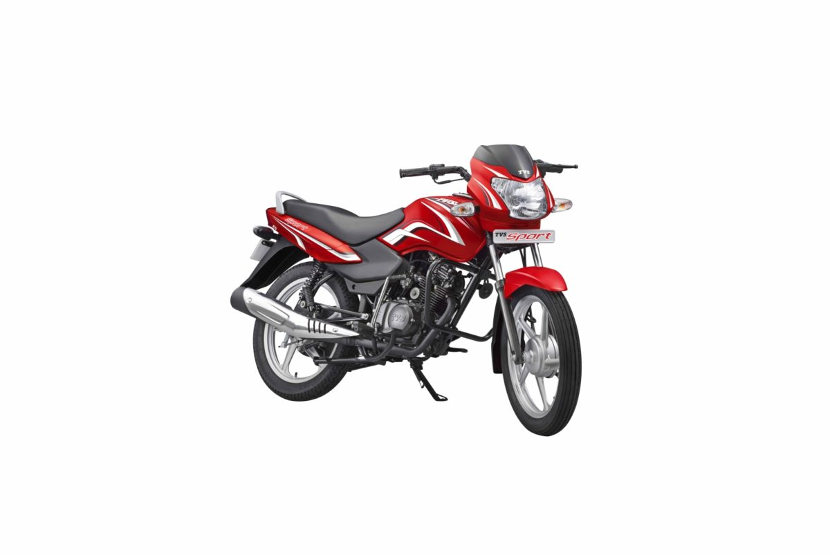 TVS Sport Silver Alloy Edition – Volcano Red