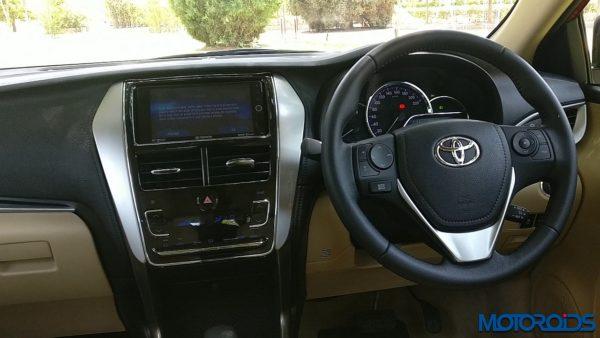 Toyota Yaris India dashboard