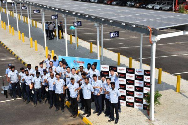 Yamaha Commissions Solar Power Plant At Its Chennai Facility (2)