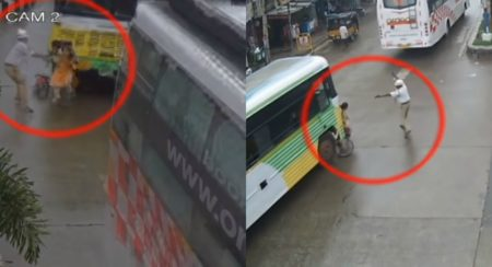 Alert Traffic Cop Saves A Girl From Fatal Accident - Feature Image (1)
