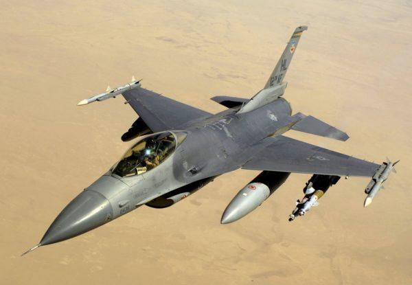 A USAF F-16C over Iraq in 2008 (Source: Wikipedia)
