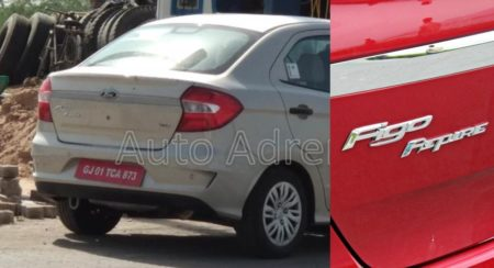 2018 Ford Figo Aspire Facelift's Test Mule Sheds All Camouflage