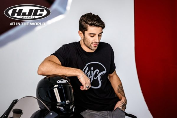 HJC Helmets announced Andrea lannone as a sponsored rider
