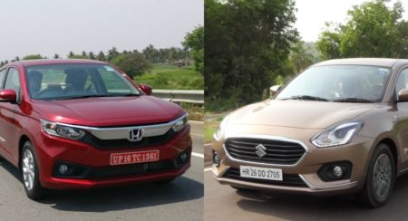 New 2018 Honda Amaze Vs Maruti Suzuki Dzire: Tech Spec, Features And Price Comparison