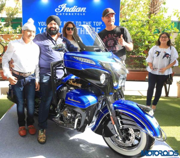 Indian Roadmaster Elite handed over to Mr. Swaranjit Singh Bajaj, 1st owner in India