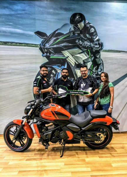 India's first Pearl Lava Orange Kawasaki Vulcan S
