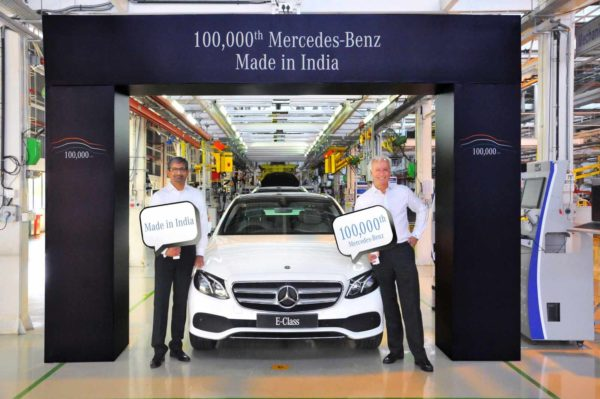 Mercedes Benz India Rolls Out Its 100,000th Car