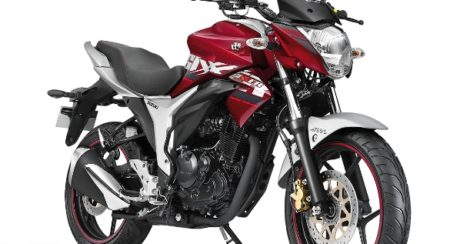 Suzuki Gixxer ABS Candy Red Metallic Sonic Silver