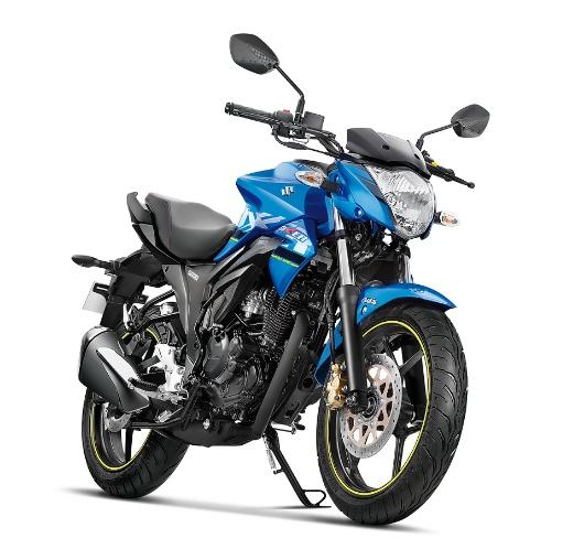 Suzuki Gixxer ABS Metallic Triton Blue Glass Sparkle Black