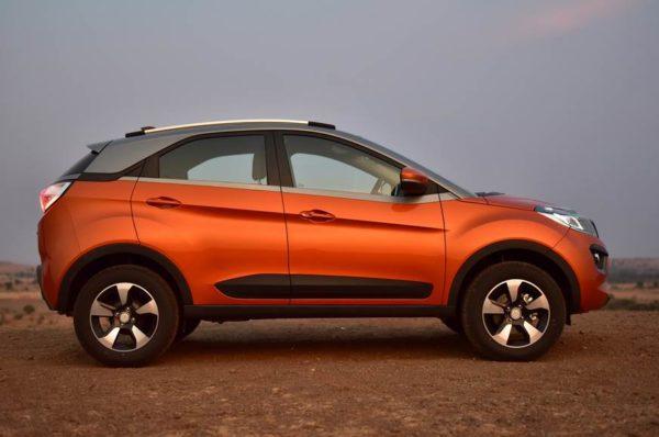 Tata Nexon AMT Etna Orange