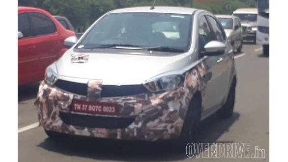 Tata Tiago JT spied testing in India