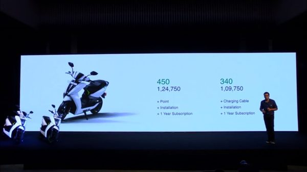Ather 340 and 450 Electric Scooter India Launch (2)
