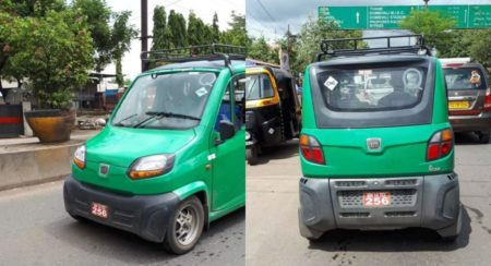 Bajaj Qute CNG Spied In India - Feature Image