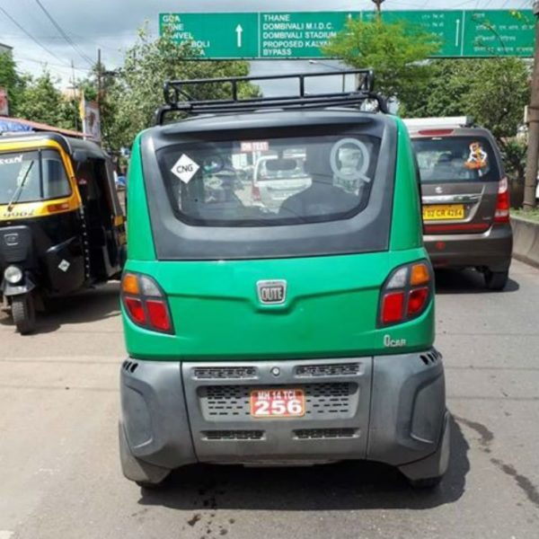CNG Powered Bajaj Qute Spotted In India (2)