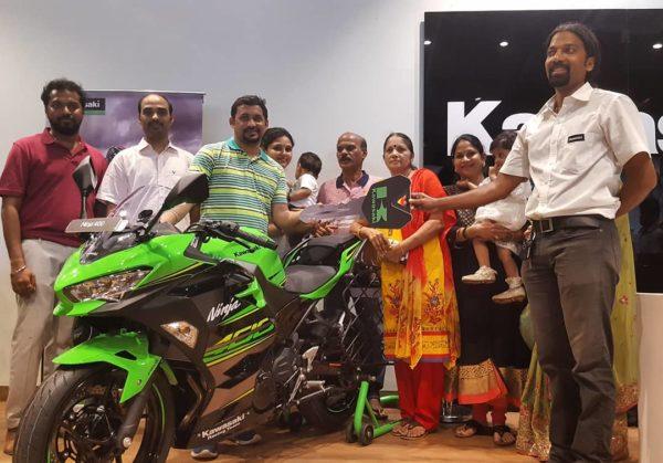 India's first Kawasaki Ninja 400 delivered in Mumbai
