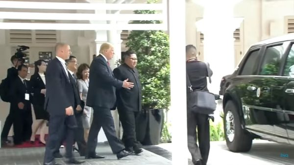 Kim Jong Un Get's A Glimpse Of Donald Trump's Presidential State Car (1)