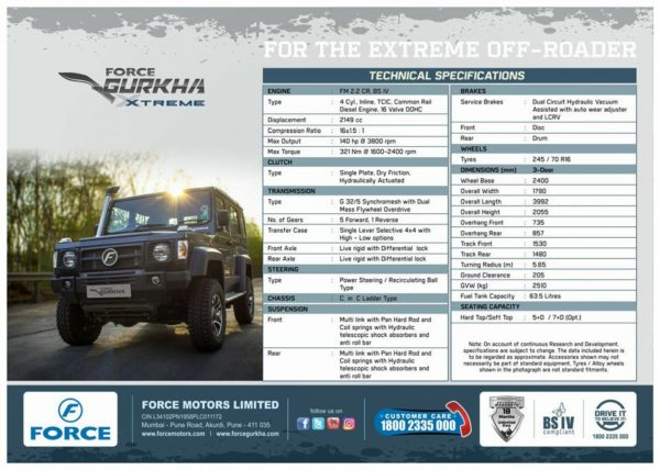 Leaked Brochure Reveals Details Of The Upcoming New Force Gurkha Xtreme (2)