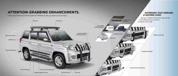 Mahindra TUV300 Plus Official Accessories (1)
