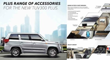 Mahindra TUV300 Plus Official Accessories - Feature Image