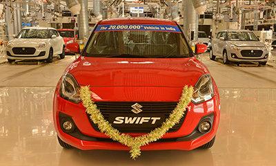 Maruti Suzuki 20 million production milestone new Swift