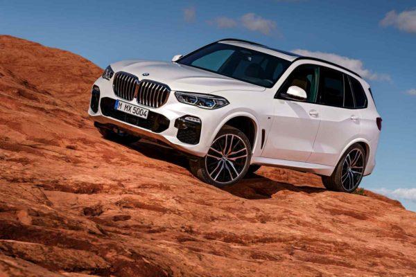New 2018 BMW X5 climbing hill