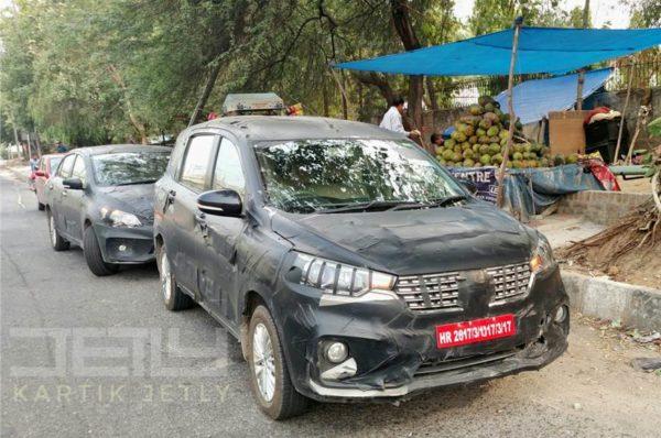 New 2018 Maruti Suzuki Ertiga facelift spied testing
